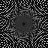 Okrągły motyw geometryczny. Abstrakcyjny element op-art w skali szarości - 169234137