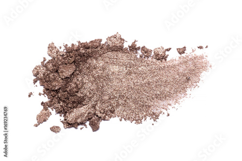 Obraz na plátne Eyeshadow sample isolated on white background