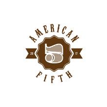 America Five Emblem Vintage Logo