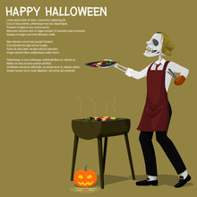A Ghost Is Grilling Barbecue O...