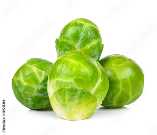 Stickers pour portes Bruxelles brussel sprout isolated on the white background