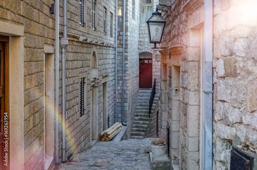 Fototapety, obrazy: Old narrow street in Ulcinj