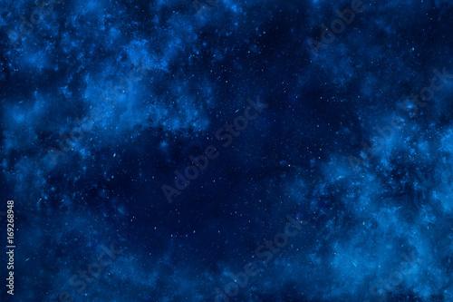 Fototapeta Outer space dramatic background with clouds and stars obraz na płótnie
