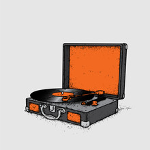 Vintage Record Player Vinyl Re...