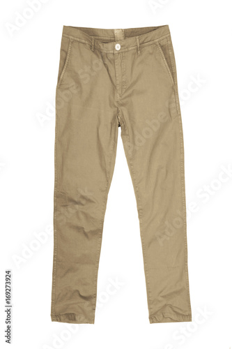 Mens pants isolated on white background,