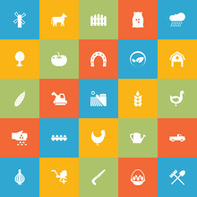Set Of 25 Agriculture Icons Set.Collection Of Rake, Seed, Cloud And Other Elements.