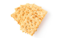 Group Of Crackers Isolated On ...