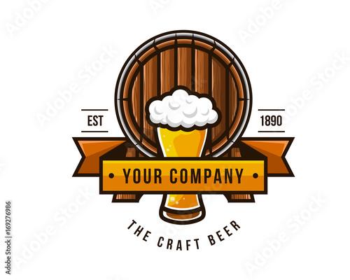 Photo Modern Beer Bar Emblem Logo Design