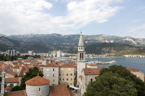 Printed kitchen splashbacks Turkey View of the city of Budva from the observation deck of the ancient fortress Citadel, Montenegro