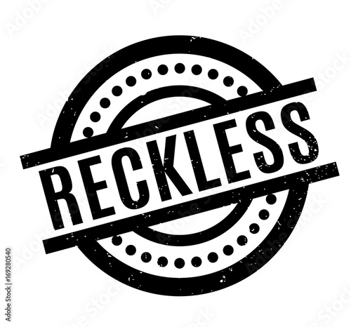 Fototapeta Reckless rubber stamp