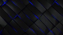 Grey And Blue Rectangles Modern Background 3d Render Illustration