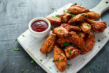 Baked Chicken Wings With Sesam...