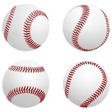 Baseball Balls - Vector