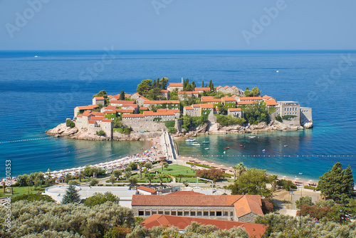 Sveti Stefan is a small island and luxury resort on the Adriatic coast of Monten Wallpaper Mural