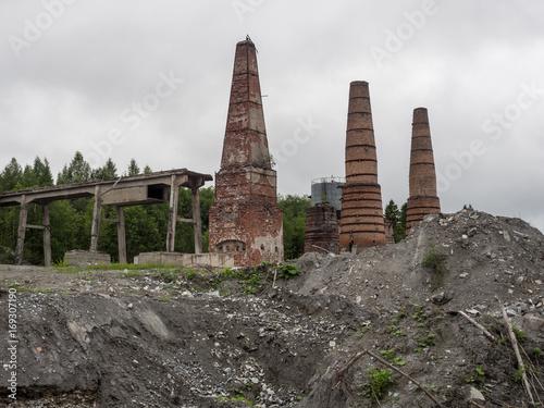 Poster Oude verlaten gebouwen Abandoned factory