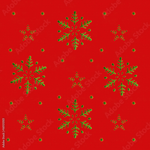 Ingelijste posters Surrealisme Red Christmas Background