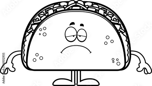 Photo  Sad Cartoon Taco