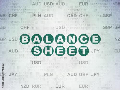 balance sheet paper