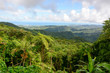 Panoramic view to El Yunque national forest in Puerto Rico