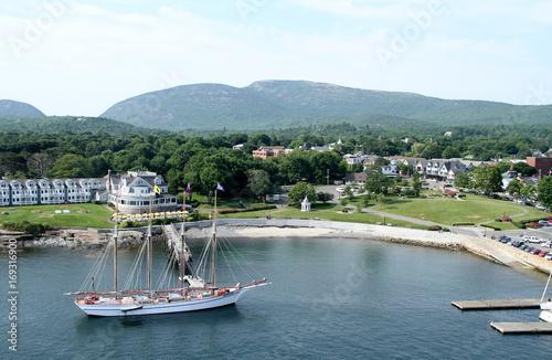 Photo  Bar Harbor, Maine aerial