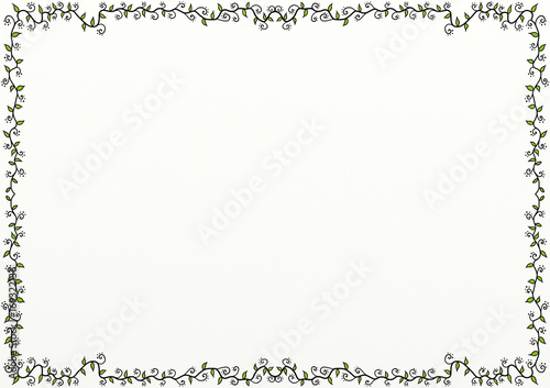 Fotografie, Obraz  Doodle Leaf Flourish Page Border