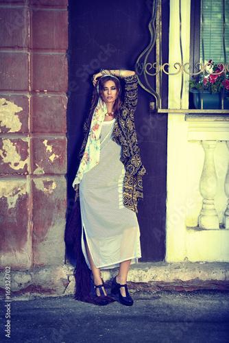 Poster Gypsy long boho dress
