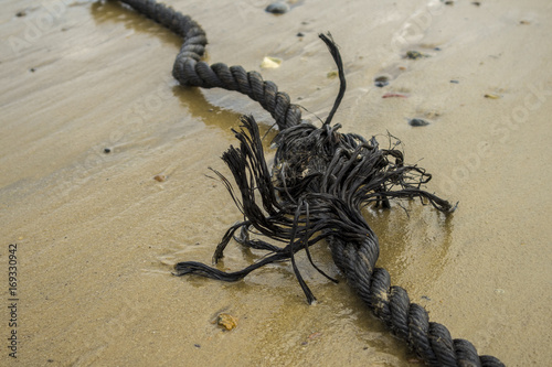 ripped cord at beach