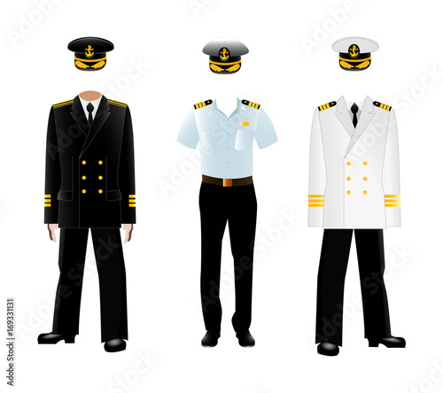 Vászonkép Navy captain uniform, vector