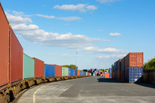A Train Of Containers Parked I...