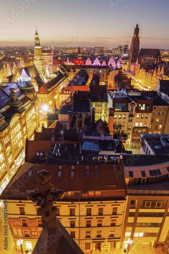 Plakat Rynek we Wrocławiu