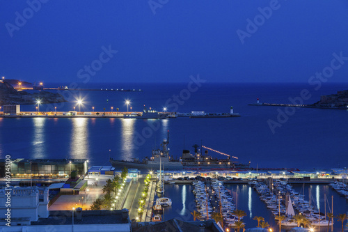 Fototapeta Port of Cartagena at night