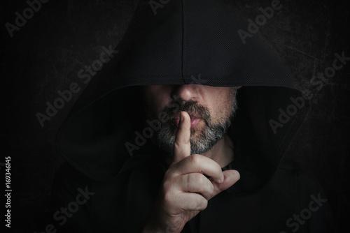 Cuadros en Lienzo hombre misterioso en halloween