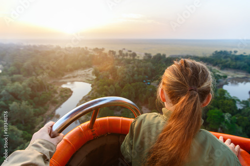 Foto Hot air balloon in Africa