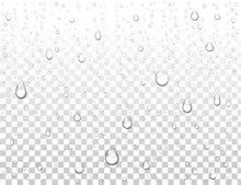 Realistic Pure Water Drops On ...