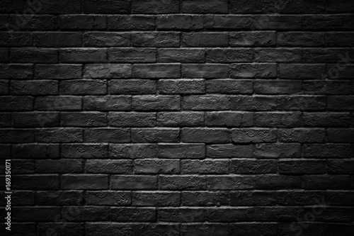 Poster Brick wall Dark brick wall