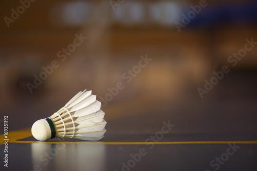 Photo badminton shuttlecock