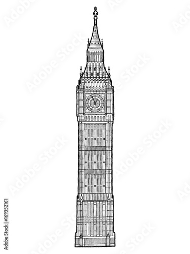 Big Ben Vector Illustration Hand Drawn Landmark Cartoon Art Buy This Stock Vector And Explore Similar Vectors At Adobe Stock Adobe Stock
