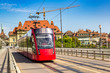 Modern city tram in Bern