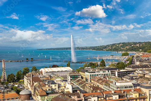 Foto Panoramic view of Geneva