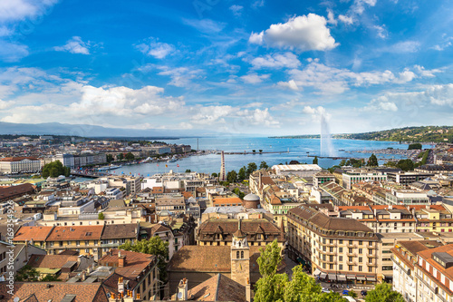 Photo Panoramic view of Geneva