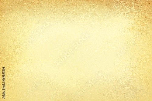 Fotografia, Obraz  pale gold background with beige or cream center and old brown border in vintage