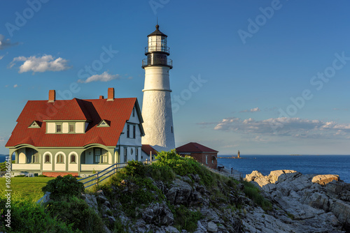 Foto op Canvas Vuurtoren Portland Head Lighthouse in Cape Elizabeth, Maine.