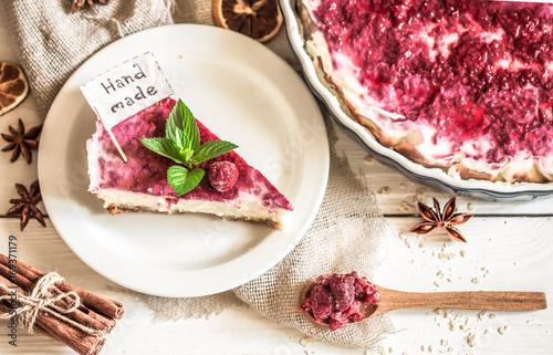 Fotografia, Obraz  homemade cheese cake