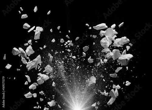 Cuadros en Lienzo  exploding debris