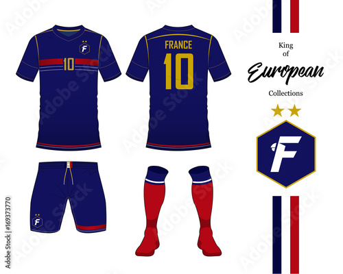 online store f419e 0d9bd France football national team uniform. Soccer jersey or ...