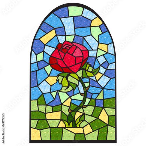 Obraz na plátně Stainedglass Rose