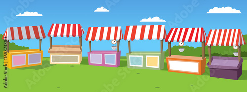 Fotografie, Obraz Stalls At Markets