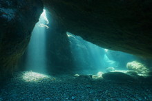 Below Big Rocks Underwater Wit...