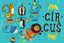 Cartoon Circus Animals. Vector...