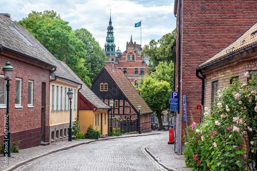 Fotografía  Lund, a small old town in Sweden, Scandinavian architecture, city landscape